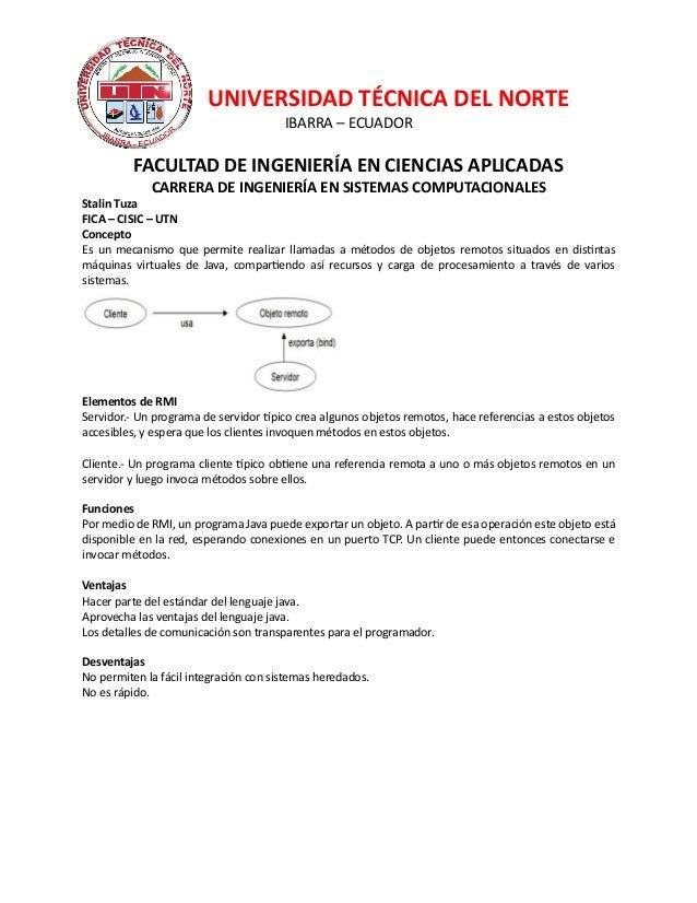 UNIVERSIDAD TÉCNICA DEL NORTEIBARRA – ECUADORFACULTAD DE INGENIERÍA EN CIENCIAS APLICADASCARRERA DE INGENIERÍA EN SISTEMAS...