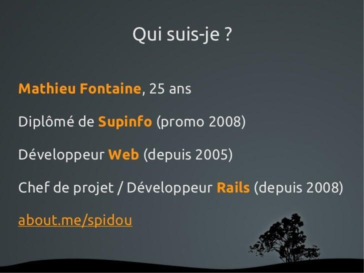 Quelle place pour le framework Rails dans le développement d'application web