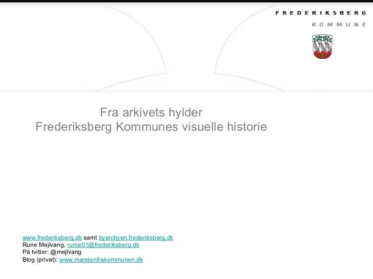 Rune Mejlvang: Fra det støvete arkivet (Webdagene 2012)