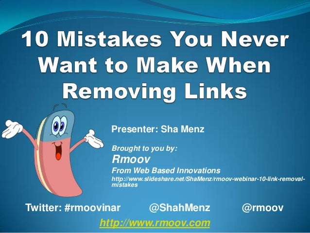 Presenter: Sha Menz                Brought to you by:                Rmoov                From Web Based Innovations      ...