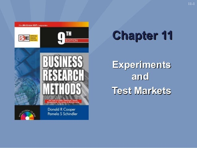 11-1Chapter 11Experiments    andTest Markets