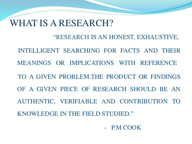 Research proposal preparation