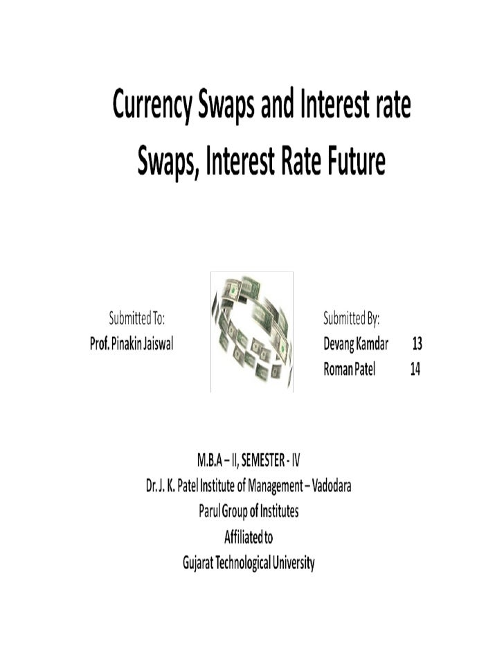 Currency Swap   A currency swap is one in which one party    agrees to exchange payments based on one    currency with an...
