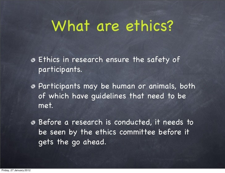 Essay on ethics in psychology