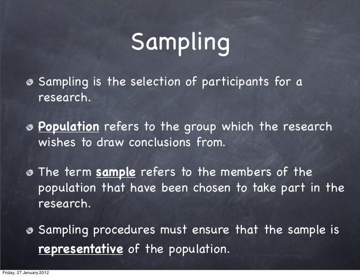 What sampling method did I use?...?