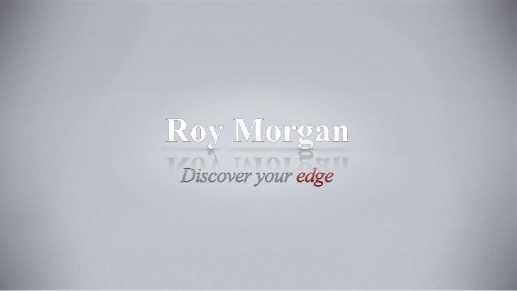 Roy Morgan Research Digital Universe Presentation August 2012