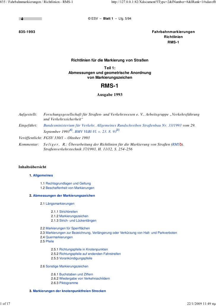835 / Fahrbahnmarkierungen / Richtlinien - RMS-1                           http://127.0.0.1:82/Xdocument?lType=2&lNumber=8...