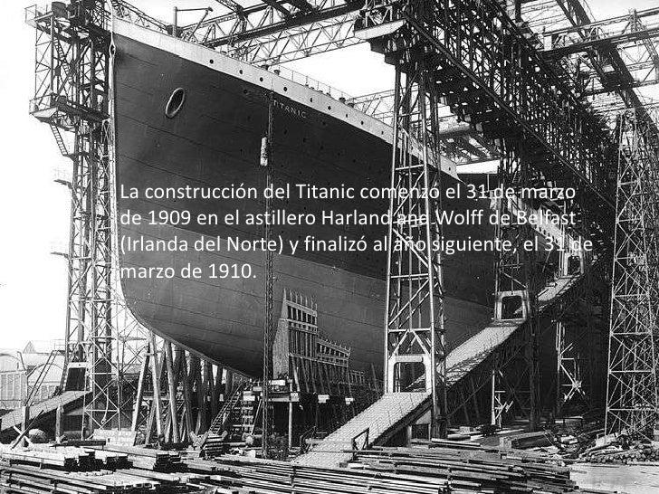 Rms titanic - Construccion del titanic ...