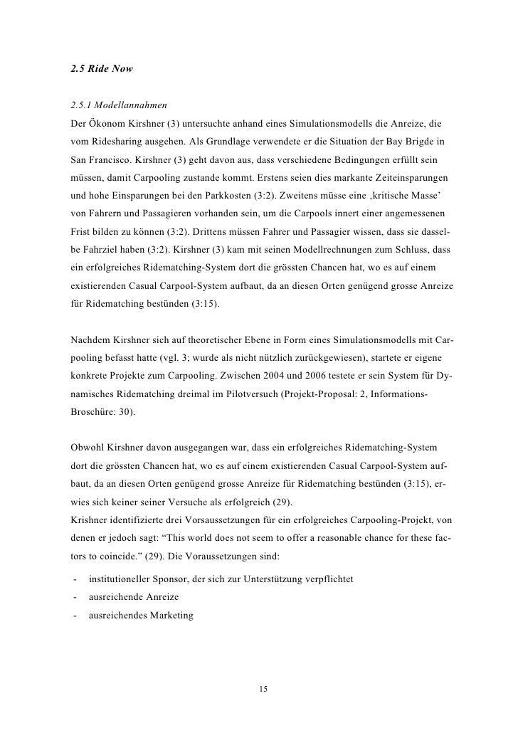 2.5 Ride Now   2.5.1 Modellannahmen Der Ökonom Kirshner (3) untersuchte anhand eines Simulationsmodells die Anreize, die v...