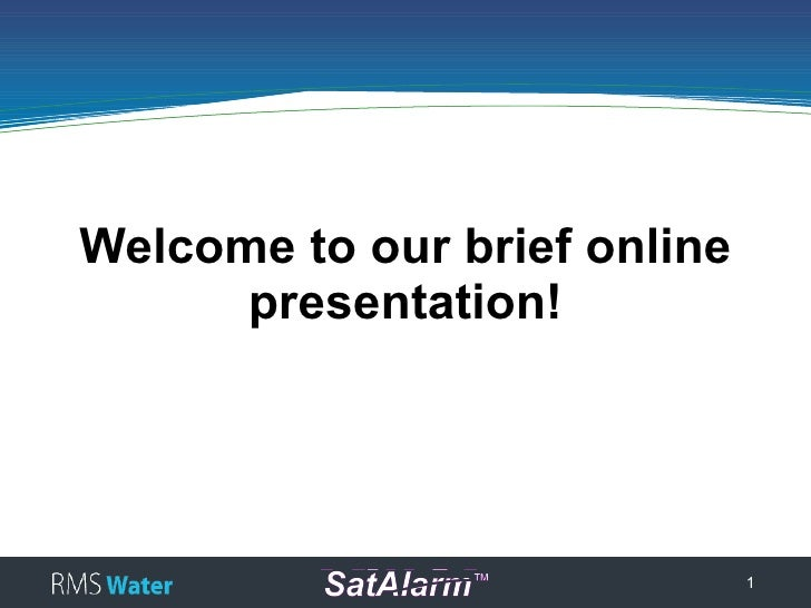 Welcome to our brief online       presentation!                                   1
