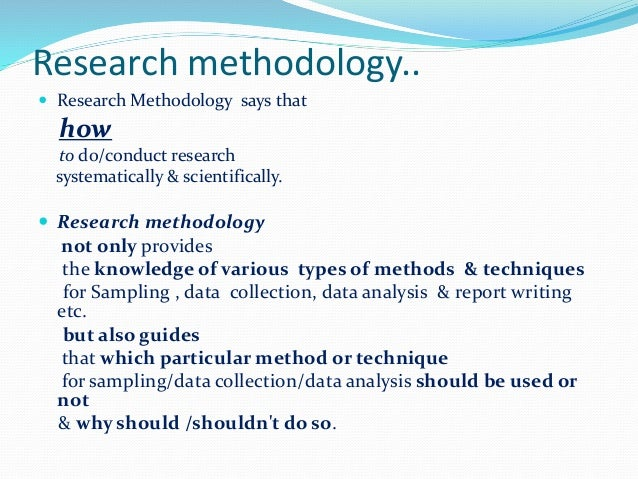 Writing A Methodology For A Research Paper