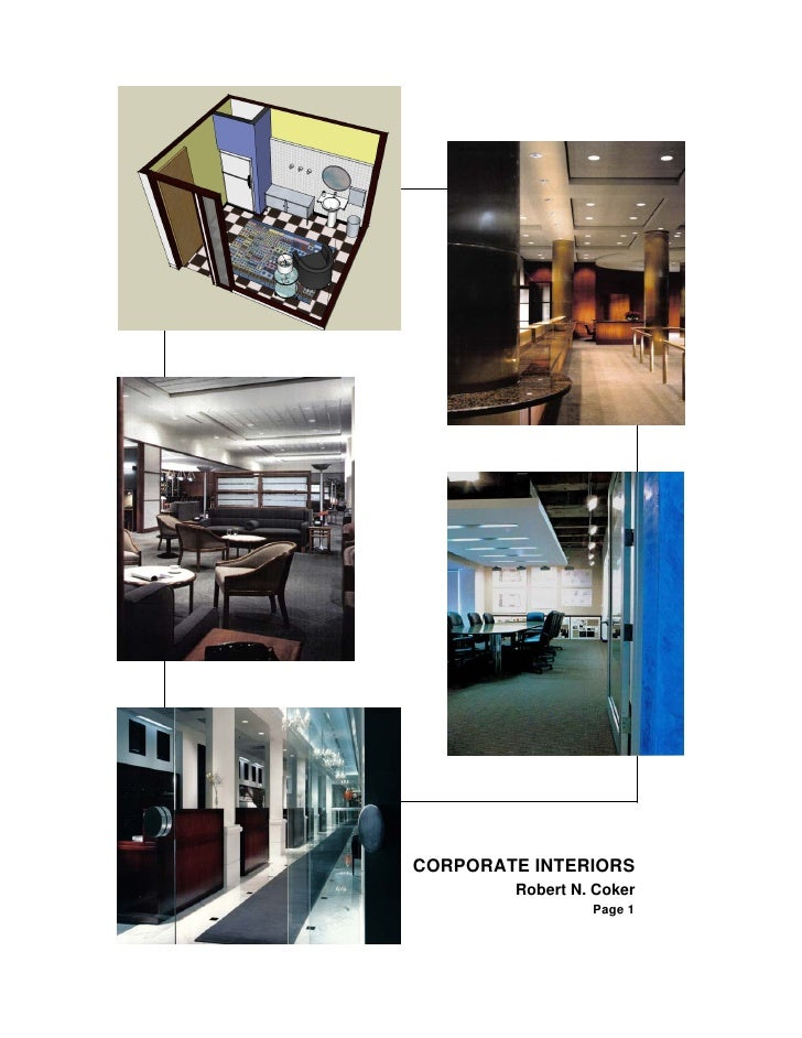 CORPORATE INTERIORS         Robert N. Coker                  Page 1