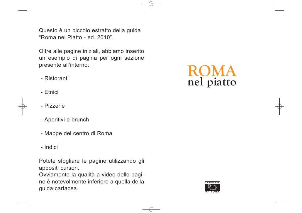 """Questo è un piccolo estratto della guida """"Roma nel Piatto - ed. 2010"""".  Oltre alle pagine iniziali, abbiamo inserito un es..."""