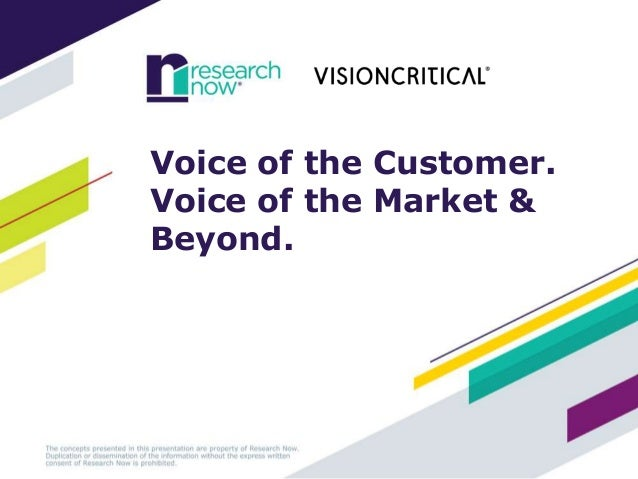 Voice of the Customer. Voice of the Market & Beyond.
