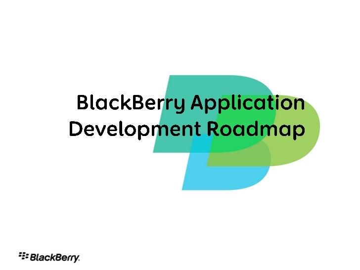 BlackBerry OS Roadmap