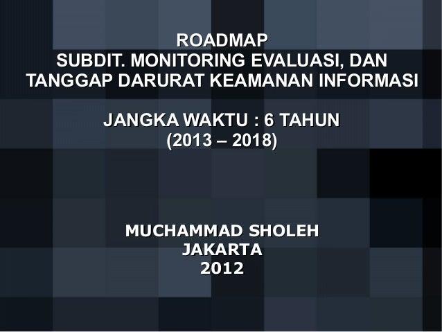 Roadmap govcsirt versi sholeh