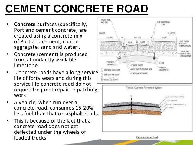 Portland Cement Roads : Roads pavements