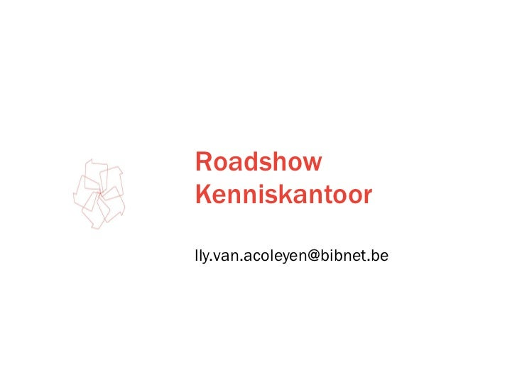 Roadshow Kenniskantoor
