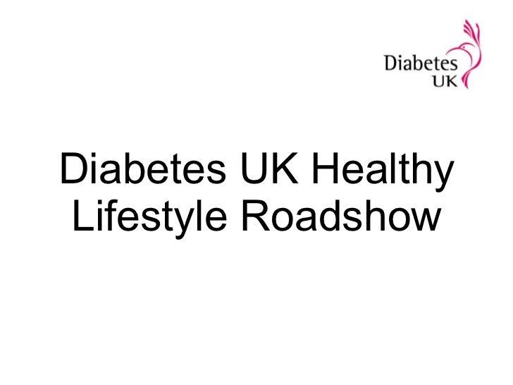 Diabetes UK Healthy Lifestyle Roadshow