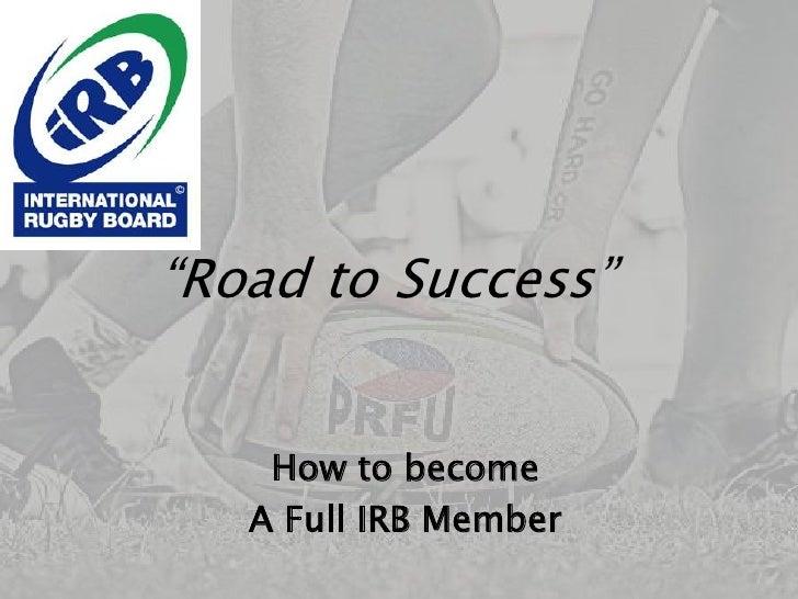 PRFU Road to Success
