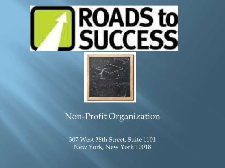 Non-Profit Organization<br />307 West 38th Street, Suite 1101New York, New York 10018<br />