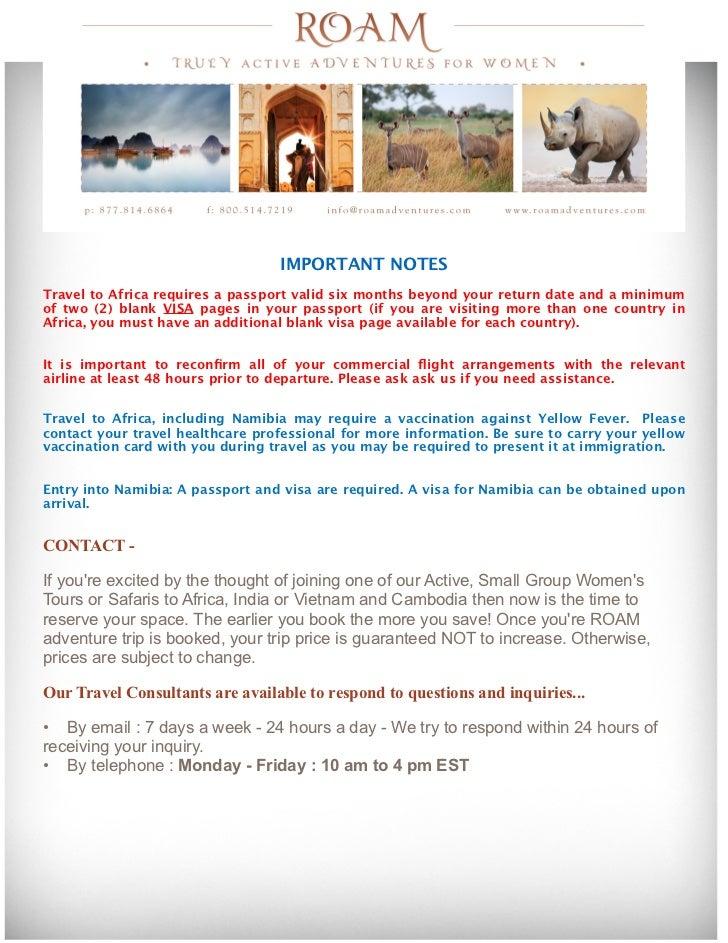 ROAM Women's Adventures Namibia Safari