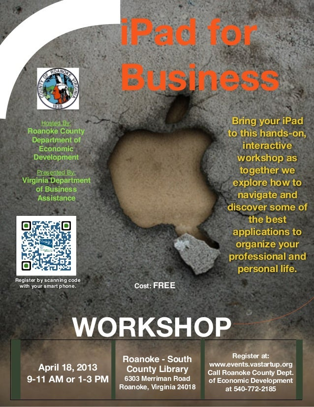 Roanoke County iPad for Business Workshop, April 18, 2013