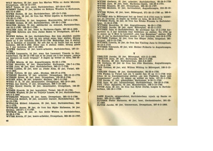 Kriminaliteit yn Achtkarspelen/ Criminaliteit in Achtkarspelen 1700-1811