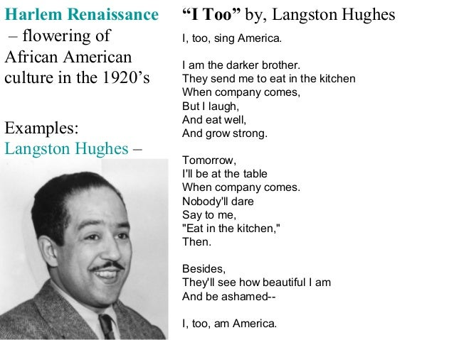 Language of I Too by Langston Hughes  Studienetdk