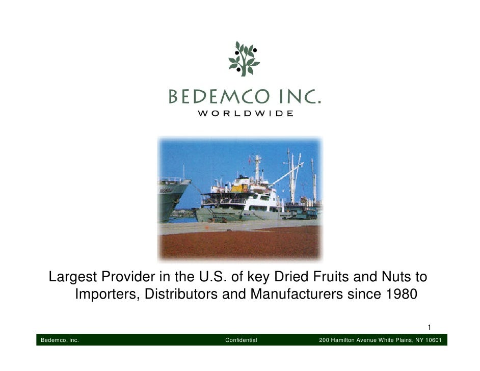 Largest Provider in the U.S. of key Dried Fruits and Nuts to       Importers, Distributors and Manufacturers since 1980   ...