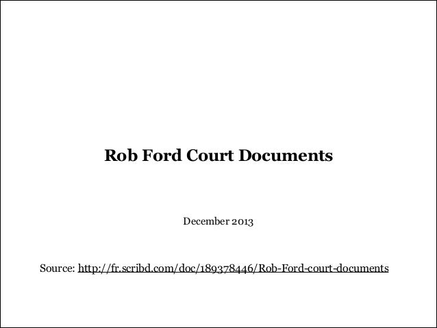 Rob Ford - Court Documents - December 2013