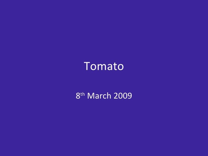 Rob Bell   Tomato Mar 09