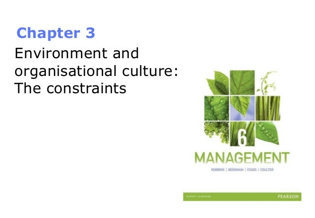 Chapter 3 Environment and organisational culture: The constraints