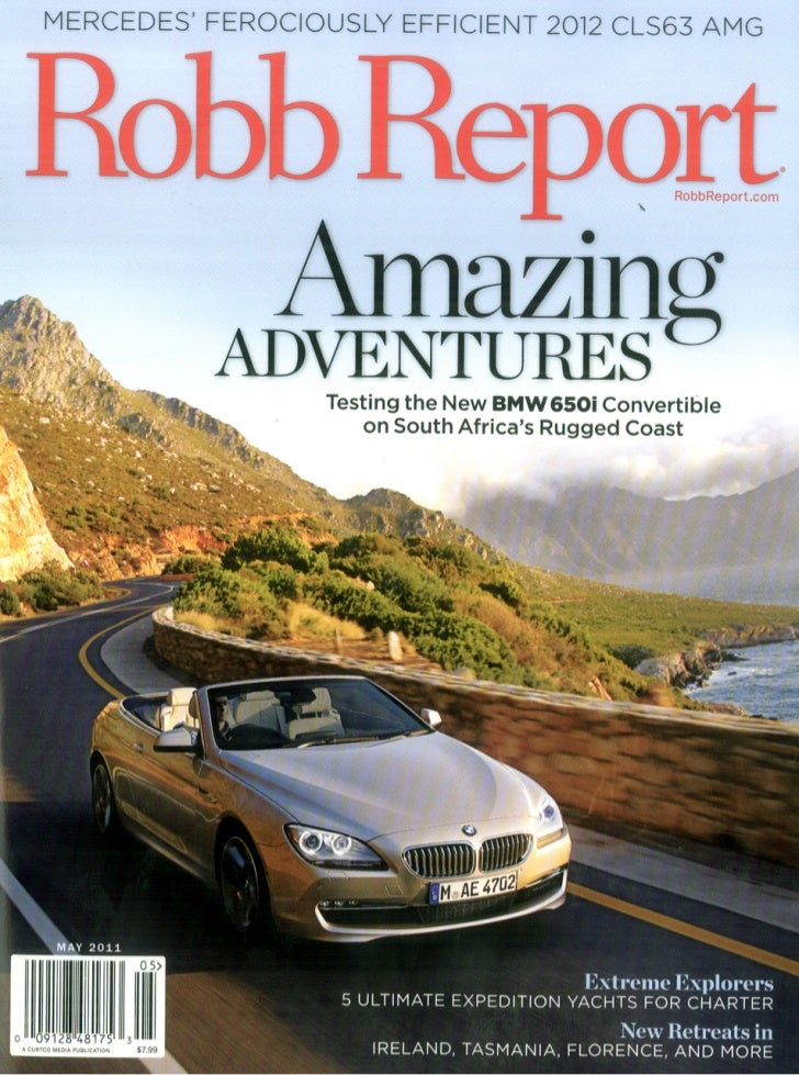 Robb report clean living-may 2011
