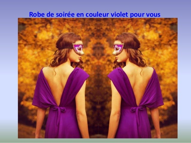 Robe de soiree en couleur violette pour vous