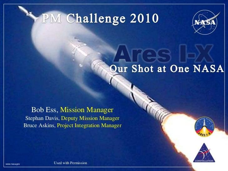 Bob Ess, Mission Manager               Stephan Davis, Deputy Mission Manager               Bruce Askins, Project Integrati...