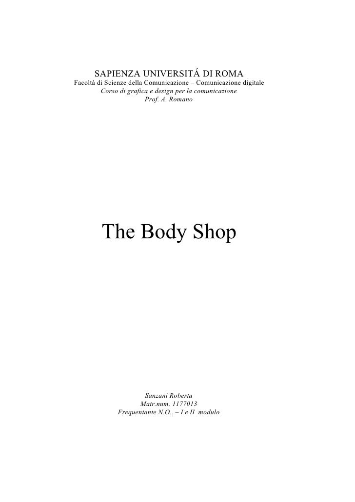 New Brand Identity Body Shop