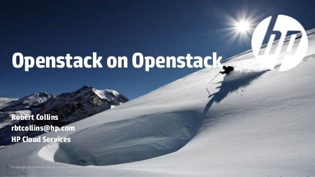 OpenStack on OpenStack