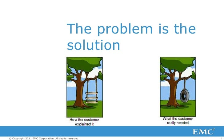 The problem is the                                            solution© Copyright 2011 EMC Corporation. All rights reserve...