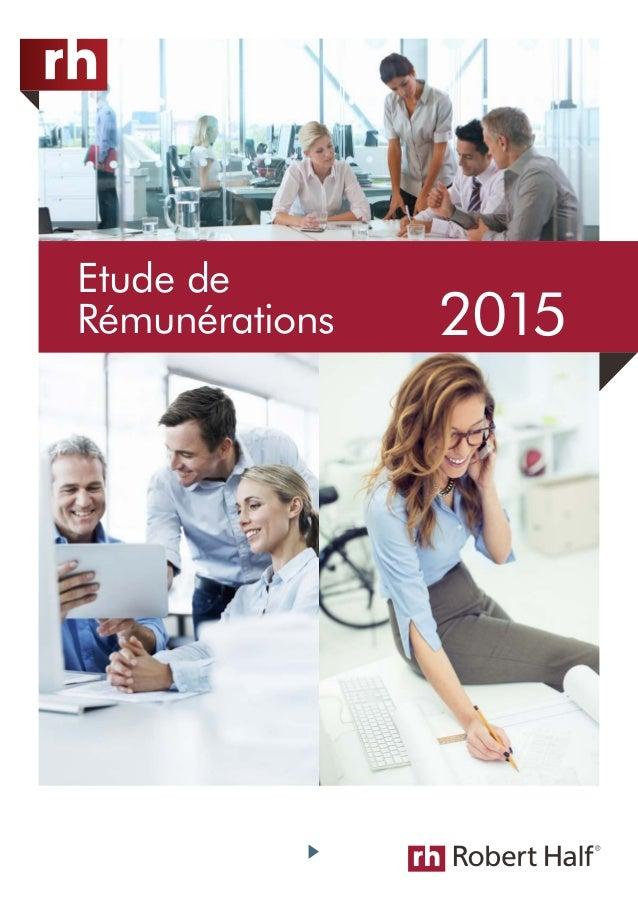 Etude de  Rémunérations 2015