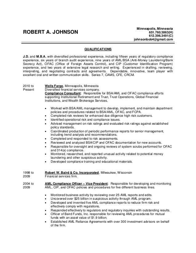 HD wallpapers anti money laundering resume sample