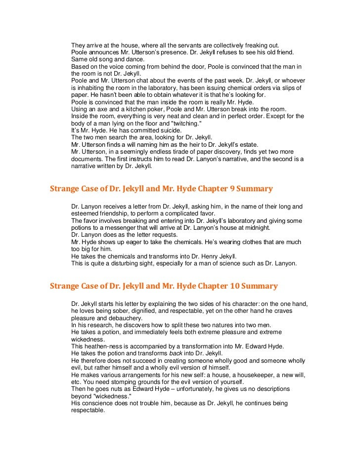 dr jekyll and mr hyde brief summary