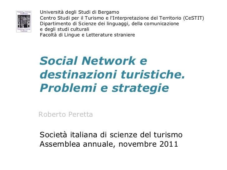 Social Network e destinazioni turistiche