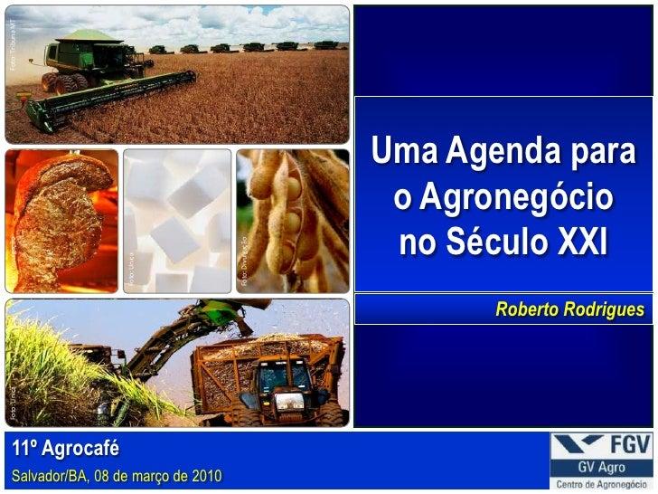 Roberto Rodrigues - UMA AGENDA PARA O AGRONEGÓCIO NO SÉCULO XXI.