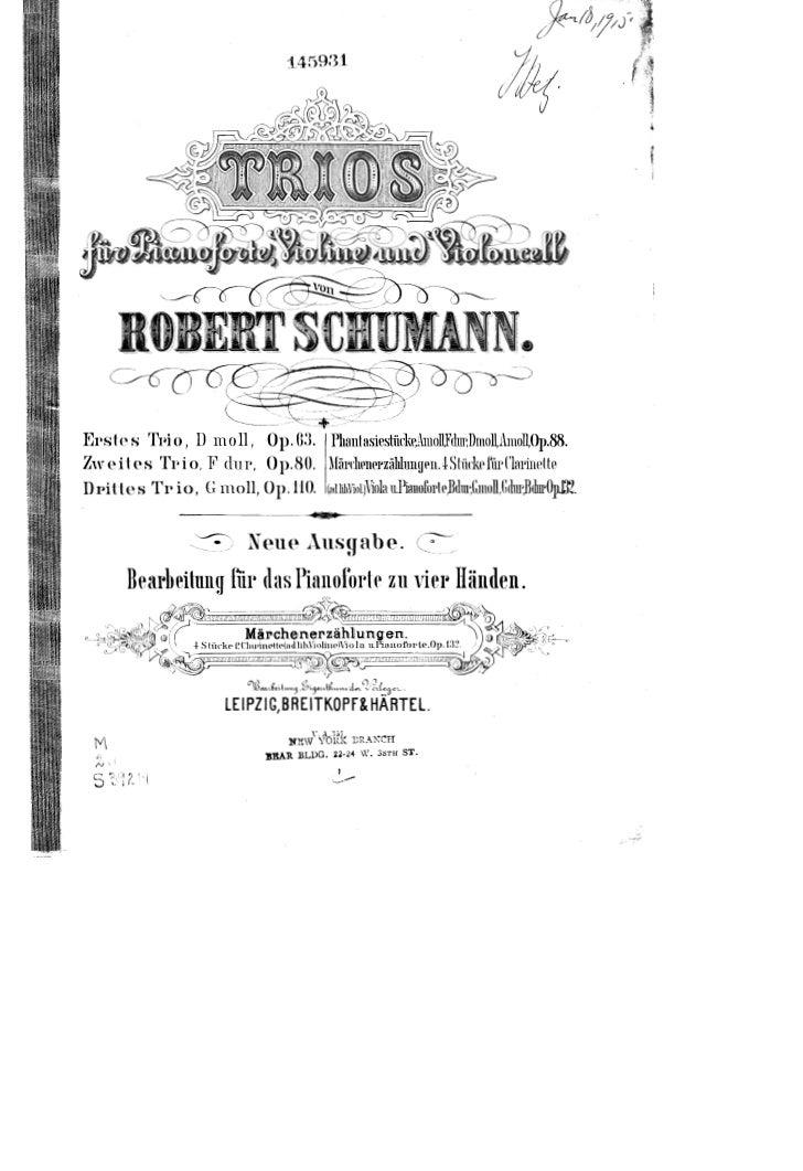 Robert schumann   arrangement pour 4 main du marchenerzahlungen