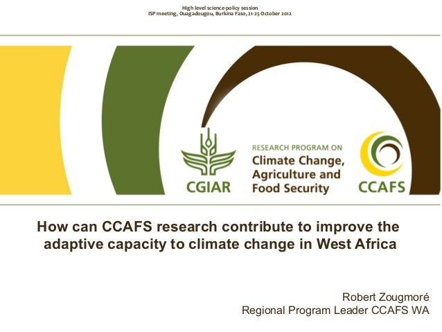 Robert Zougmoré Overview CCAFS, incl. West Africa