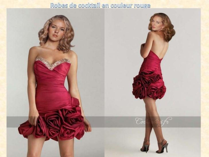 Robes de cocktail en couleur rouge