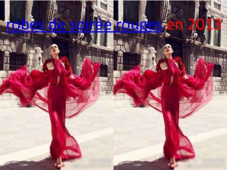 robes de soirée rouges en 2013