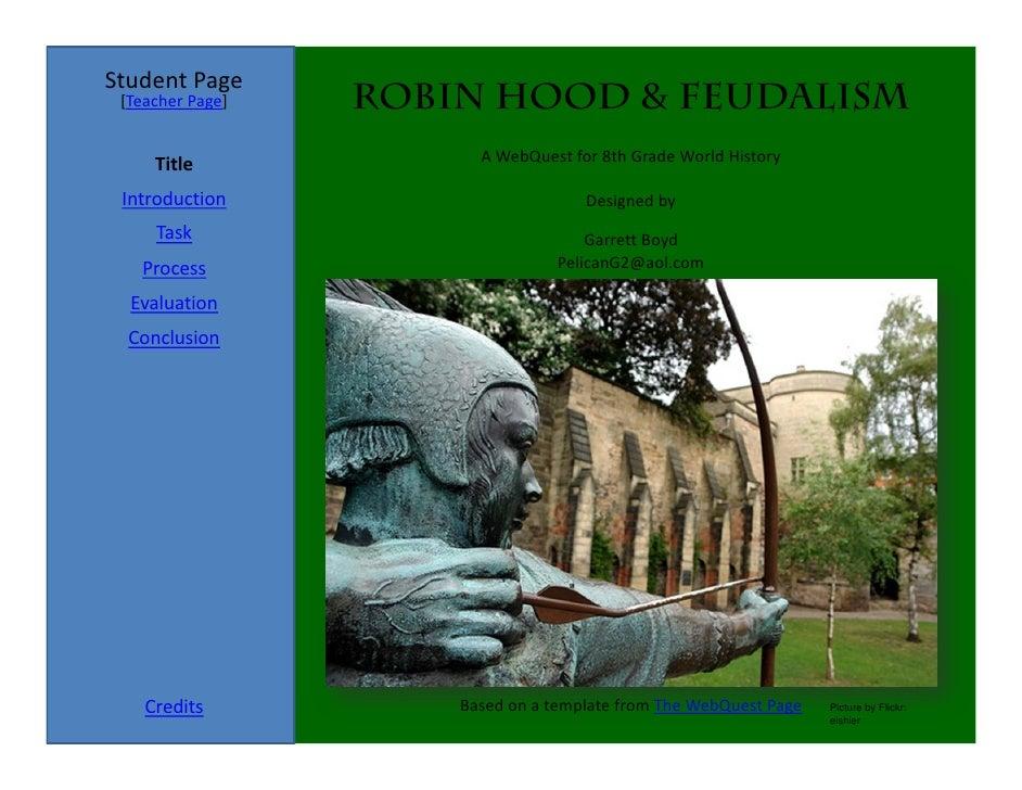 Robin Hood Webquest