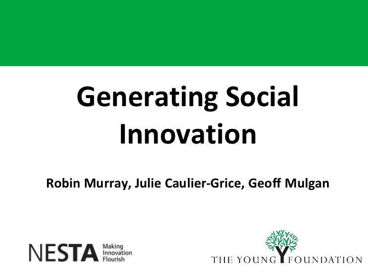 Generating Social Innovation
